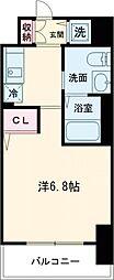 神戸高速東西線 西元町駅 徒歩3分の賃貸マンション 8階1Kの間取り