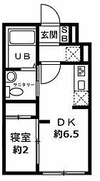 JR仙山線 国見駅 徒歩15分の賃貸マンション 5階1DKの間取り