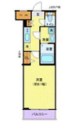 東急田園都市線 池尻大橋駅 徒歩10分の賃貸マンション 4階1Kの間取り