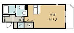 JR仙石線 宮城野原駅 徒歩6分の賃貸マンション 4階ワンルームの間取り