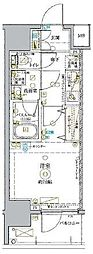 東武東上線 北池袋駅 徒歩14分の賃貸マンション 11階1Kの間取り