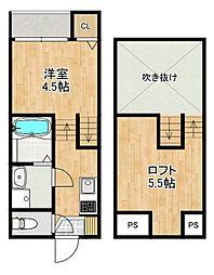 modern palazzo住吉レジサム 1階1SKの間取り