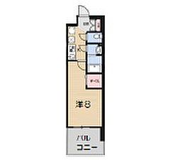 Osaka Metro御堂筋線 大国町駅 徒歩1分の賃貸マンション 9階1Kの間取り