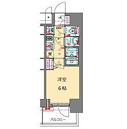Osaka Metro長堀鶴見緑地線 松屋町駅 徒歩4分の賃貸マンション 13階1Kの間取り