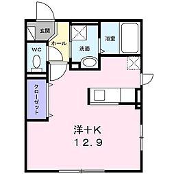 札幌市営東西線 東札幌駅 徒歩4分の賃貸アパート 1階1Kの間取り
