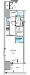 東京メトロ日比谷線 入谷駅 徒歩3分の賃貸マンション 2階1Kの間取り