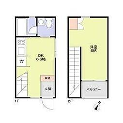 M-house 1階1DKの間取り