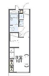 京阪本線 牧野駅 徒歩21分の賃貸アパート 1階1Kの間取り