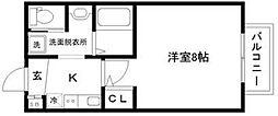 Surpass南仙台 1階1Kの間取り