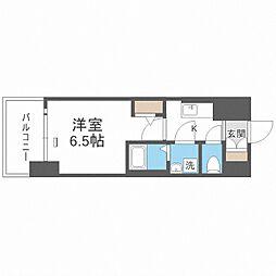 JR大阪環状線 大正駅 徒歩10分の賃貸マンション 9階1Kの間取り
