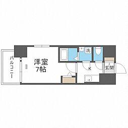 JR大阪環状線 大正駅 徒歩10分の賃貸マンション 3階1Kの間取り