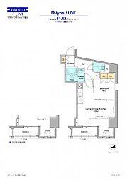 JR山手線 高田馬場駅 徒歩12分の賃貸マンション 3階1LDKの間取り