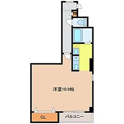 愛知高速東部丘陵線 はなみずき通駅 徒歩32分の賃貸マンション 1階1Kの間取り