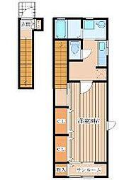 JR仙山線 陸前落合駅 徒歩14分の賃貸アパート 2階1Kの間取り