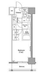 JR山手線 巣鴨駅 徒歩8分の賃貸マンション 12階1Kの間取り