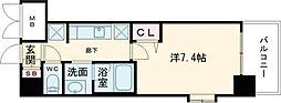 JR東海道・山陽本線 尼崎駅 徒歩1分の賃貸マンション 10階1Kの間取り