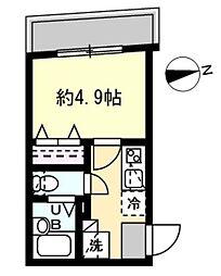 JR山手線 恵比寿駅 徒歩13分の賃貸マンション 1階1Kの間取り