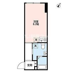 JR山手線 恵比寿駅 徒歩13分の賃貸マンション 2階ワンルームの間取り