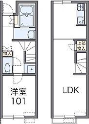 レオネクスト三島 1階1LDKの間取り