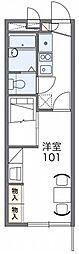 東武日光線 幸手駅 徒歩15分の賃貸アパート 2階1Kの間取り
