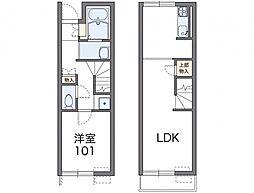 レオネクストクローナA 1階1LDKの間取り