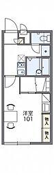 JR吉備線 備前一宮駅 徒歩8分の賃貸アパート 1階1Kの間取り