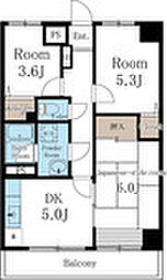 JR京浜東北・根岸線 西川口駅 徒歩16分の賃貸マンション 2階3DKの間取り