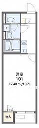 JR津山線 法界院駅 バス5分 三野下車 徒歩4分の賃貸アパート 2階1Kの間取り
