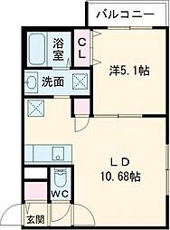 Bell Casa相生(ベルカーサ相生) 4階1LDKの間取り