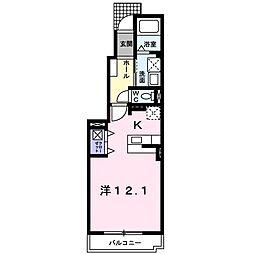 セレーノK&M稙田 1階1Kの間取り