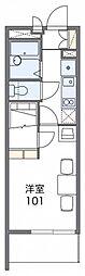 JR中央本線 神領駅 徒歩14分の賃貸マンション 3階1Kの間取り