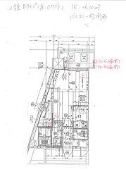 福岡市地下鉄箱崎線 呉服町駅 徒歩13分の賃貸マンション 4階1Kの間取り