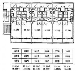 広島高速交通アストラムライン 大塚駅 徒歩17分の賃貸マンション 1階ワンルームの間取り