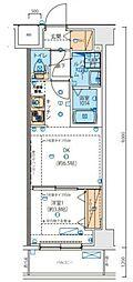 JR京浜東北・根岸線 西川口駅 徒歩5分の賃貸マンション 8階1DKの間取り
