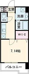 折尾4丁目賃貸マンション 8階1Kの間取り