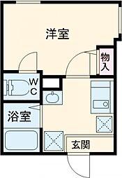 JR総武線 東中野駅 徒歩11分の賃貸アパート 1階1Kの間取り