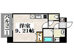 JR鹿児島本線 吉塚駅 徒歩6分の賃貸マンション 8階ワンルームの間取り