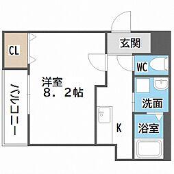 Osaka Metro御堂筋線 西田辺駅 徒歩7分の賃貸アパート 2階1Kの間取り