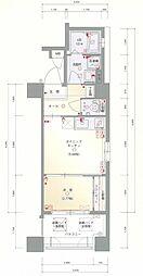 JR鹿児島本線 箱崎駅 徒歩1分の賃貸マンション 2階1DKの間取り