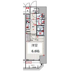 Osaka Metro谷町線 四天王寺前夕陽ヶ丘駅 徒歩8分の賃貸マンション 3階1Kの間取り