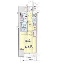 Osaka Metro谷町線 四天王寺前夕陽ヶ丘駅 徒歩8分の賃貸マンション 10階1Kの間取り