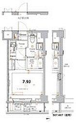 XEBEC大鳥居IV 3階1Kの間取り