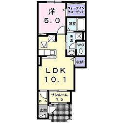 コンフォール・S 1階1LDKの間取り