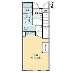 高松琴平電気鉄道琴平線 太田駅 徒歩27分の賃貸マンション 1階1Kの間取り
