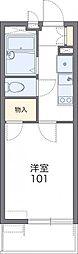 レオパレスボヌール久喜 3階1Kの間取り