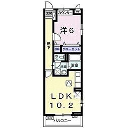 フォレストパーク・九番館 1階1LDKの間取り