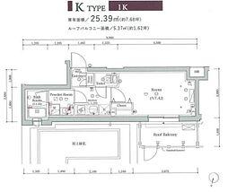 JR山手線 大崎駅 徒歩11分の賃貸マンション 3階ワンルームの間取り