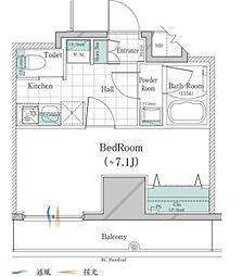JR山手線 大塚駅 徒歩3分の賃貸マンション 12階1Kの間取り