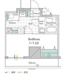 JR山手線 大塚駅 徒歩3分の賃貸マンション 10階1Kの間取り