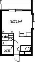 Park Side葉月館 3階ワンルームの間取り